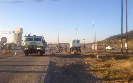 FILE IMAGE: Army and police deployed in Marikana. Picture: Govan Whittles/EWN.