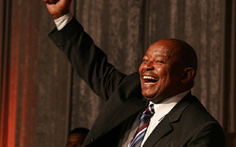 FILE: A jubilant Mosiuoa Lekota greets delegates at the national convention in Sandton on 1 November 2008. Picture: EWN
