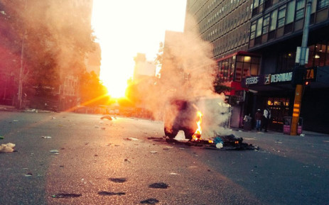 FILE: Wits students protest in Braamfontein. Picture: Victor Magwedze/EWN.