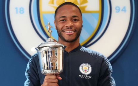 Manchester City's Raheem Sterling with his PFA Young Player of the Year Award. Picture: @ManCity/Twitter