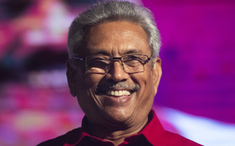 Sri Lanka Podujana Peramuna (SLPP) party presidential candidate Gotabaya Rajapaksa smiles during a campaign rally in Homagama on 13 November, ahead of the November 16 presidential election. Picture: AFP