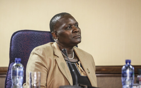 Suspended National Police Commissioner Riah Phiyega listens to closing arguments at the inquiry into her fitness to hold office in Centurion on 1 June 2016. Picture: Reinart Toerien/EWN.