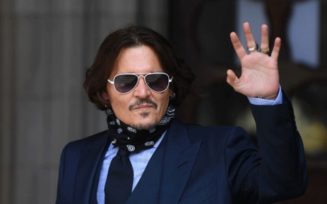 US actor Johnny Depp arrives to attend the sixth day of his libel trial against News Group Newspapers at the High Court in London, on 14 July 2020. Picture: AFP
