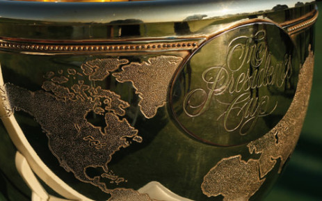 The Presidents Cup Trophy. Picture: AFP