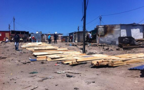 FILE: The City of Cape Town is assisting 90 families rebuilding their shacks following a fire. Picture: Siyabonga Sesant/EWN