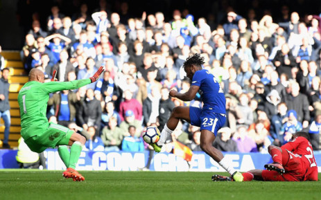 Chelsea's Michy Batshuayi scored two second-half goals to help snatch a 4-2 victory against Watford. Picture: Twitter @ChelseaFC.