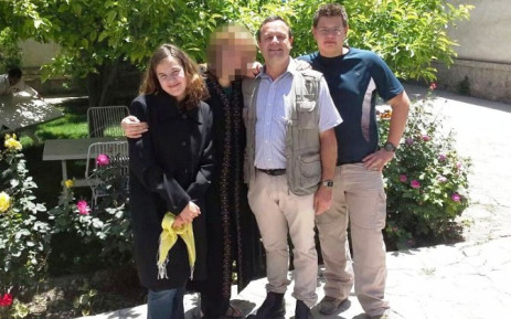 A picture released by the family shows the Groenewald family. (L-R) Werner Groenewald (46) head of an education charity, his son Jean-Pierre (17) and his daughter Rode (15) were killed in the latest Taliban strike in Kabul on 29 November 2014. Picture: AFP/Courtesy of the family.