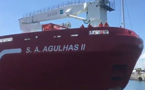The 'SA Agulhas II' research ship arrives in Cape Town on 7 February 2017. Picture: Monique Mortlock/EWN.
