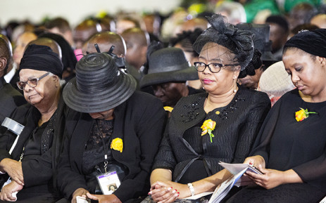 Members of Dr Edna Molewa's funeral seated at her funeral. Picture: Kayleen Morgan/EWN