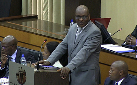 Gauteng Premier David Makhura addresses the provincial legislature after being elected to head the province in Johannesburg on 21 May 2014. Picture: Reinart Toerien/EWN.