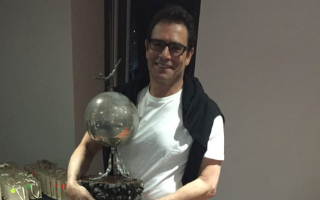 Theodore Yach with his long-distance swimming award in 2016. Picture: @yachtheodore/Twitter
