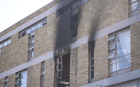 The Voortrekker Road apartment that caught alight on 23 July 2018. Two people died as a result of the fire. Picture: Cindy Archillies/EWN
