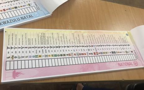 Special voting ballot paper. Picture: Nthakoana Ngatane/EWN