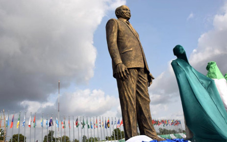 A statue of President Jacob Zuma is seen in Nigeria's Imo State. Picture: GCIS.