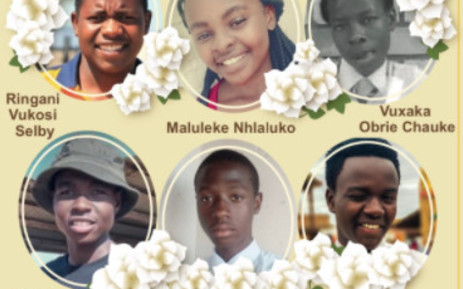 Four of the six pupils who were killed in a bakkie crash in Limpopo were laid to rest on Friday, 23 April 2021. One funeral was held the day before, and another will be held on Saturday. Picture: Twitter/@DBE_SA