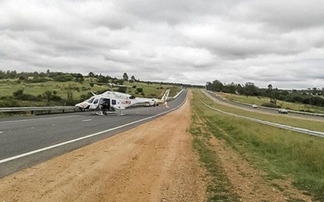 A Netcare 911 helicopter at the scene of an accident. Picture: Instagram.com