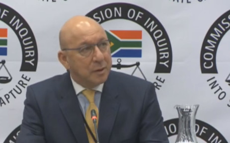 A screengrab of former Finance Minister testifying at the Zondo commission of inquiry into state capture on 28 February 2019.
