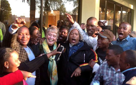 DA supporters congratulate Annette Combrink after a unanimous vote put her back into power in Tlokwe (Potchefstroom). Picture: Facebook