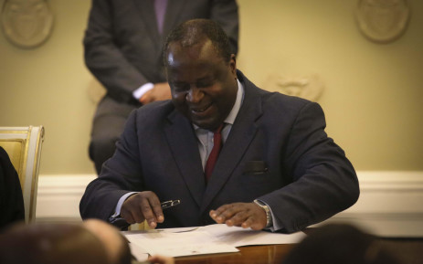 Tito Mboweni is sworn in as Finance Minister on 9 October 2018. Picture: Cindy Archillies/EWN