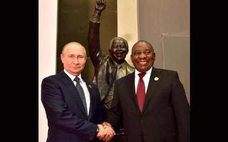 President Cyril Ramaphosa with his Russian counterpart Vladimir Putin at the BRICS Summit. Picture: GCIS.