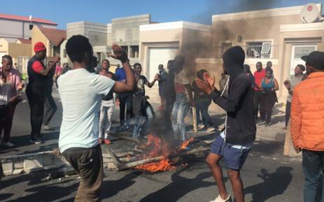 Khayelitsha residents protest on 11 April 2019. Picture: Kaylynn Palm/EWN
