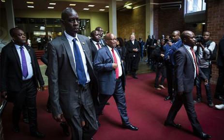 Former president Jacob Zuma court arriving at the High Court in Pietermaritzburg. Picture: Sethembiso Zulu/EWN.