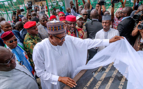 Nigeria's President Muhammadu Buhari on an election campaign visit in the Abia State. Picture: @MBuhari/Twitter