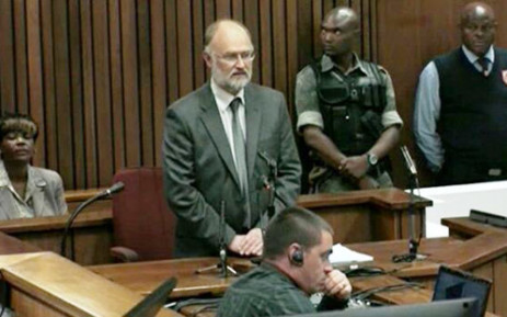 Forensic geologist Roger Dixon testifies at the High Court in Pretoria during the Oscar Pistorius murder trial on 15 April 2014. Picture: Pool.