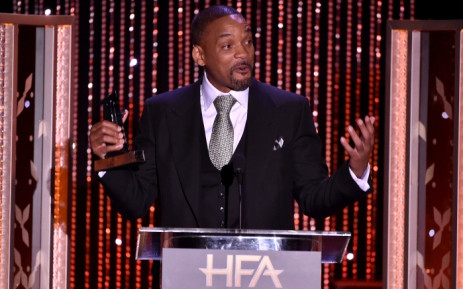"Will Smith accepts the Hollywood Actor Award for 'Concussion'"" onstage during the 19th Annual Hollywood Film Awards at the Beverly Hilton Hotel on 1 November 2015 in Beverly Hills, California. Picture: Getty Images/AFP."