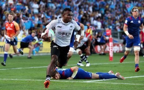 Fiji defended their crown with a win against New Zealand in Hamilton. Picture: @WorldRugby7s/Twitter.
