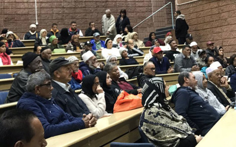 District Six land claimants at a meeting held by the District 6 Working Committee. Picture: Kaylynn Palm/EWN