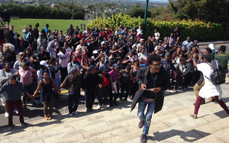 University of Cape Town student protest on campus grounds on 20 September 2016. Picture: Lauren Isaacs/EWN.