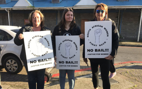 Scores of women gathered outside the Athlone Magistrates Court on 15 August 2019 where the three men accused Meghan Cremer's murder appeared in court. Picture: Lauren Isaacs/EWN.