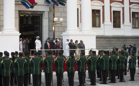 President Cyril Ramaphosa outside Parliament before delivering the State of the Nation Address on 16 February 2018. Picture: Christa Eybers/EWN