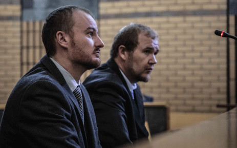 Pieter Doorewaard and Phillip Schutte are back in court for their sentencing in the North West High Court in Mahikeng. The duo were found guilty of murdering 16-year-old Mathlomola Moshoeu in Coligny. Picture: Abigail Javier/EWN