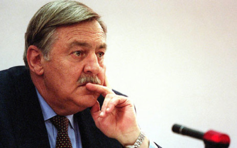 FILE: Pik Botha, former South African foreign minister, listens to questions from members of the TRC 14 October 1997 at hearings in Johannesburg. Picture: AFP.