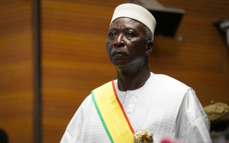 Transition Mali President Bah Ndaw is seen during his inauguration ceremony at the Centre International de Conferences de Bamako in Bamako on 25 September 2020. Picture: AFP.