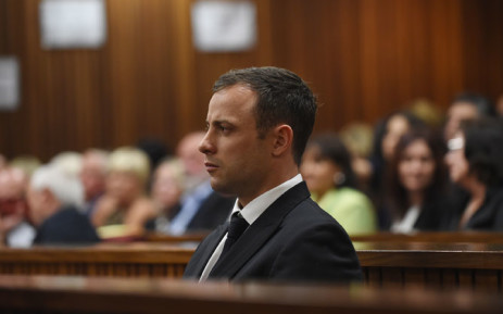 Oscar Pistorius leaves the North Gauteng High Court after the first day of sentencing arguments in his murder trial. Picture: Christa Eybers/EWN