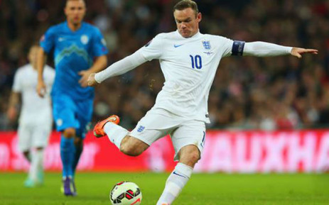 FILE: England captain Wayne Rooney celebrated his 100th England cap with a goal from a penalty against Slovenia during the Euro 2016 qualifiers on 15 November 2014. Picture: Official England Football Team Facebook page.