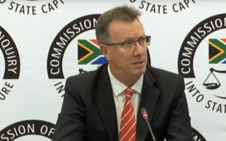 A YouTube screengrab of PwC forensic auditor Trevor White giving testimony at the Zondo commission of inquiry into state capture on 20 January 2020.