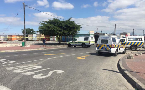 FILE: Police block the section leading to a Delft taxi rank. Picture: Monique Mortlock/EWN