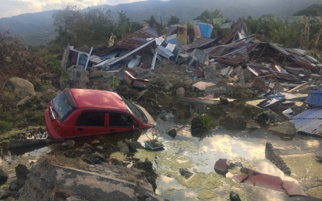 Some of the damage in the Boloroa village. Household items are still visible in the rubble serving as a reminder that families once lived there. The quake shifted homes a few metres away from where they originally were and sunk at a nearly 4m deep. Picture: Ziyanda Ngcobo/EWN