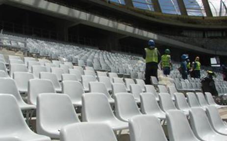 Inspectors in a stadium. Picture: EWN