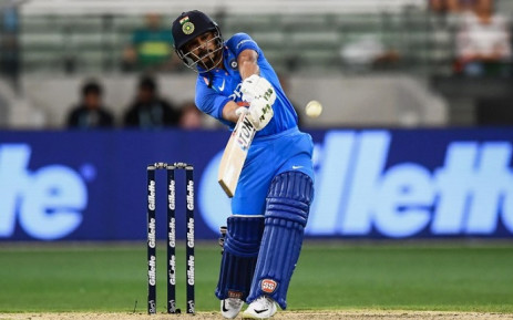 India's Kedar Jadhav plays a shot during the third one-day international cricket match between Australia and India at the Melbourne Cricket Ground in Melbourne on 18 January 2019. Picture: AFP