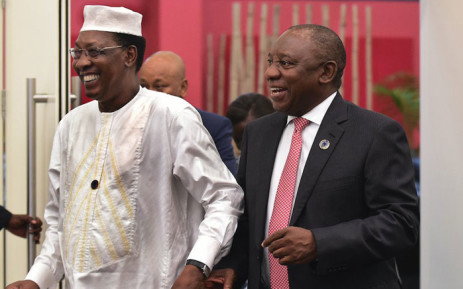 FILE: Chad President Idriss Deby (left) and South African President Cyril Ramaphosa. Picture: @PresidencyZA/Twitter