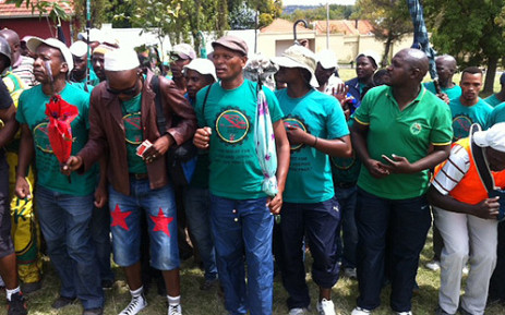 Some 80,000 workers affiliated to Amcu have been on a wage strike since January. Picture: Gia Nicolaides/EWN.