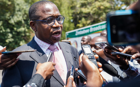 FILE: Minister of Finance and Economic Development Professor Mthuli Ncube speaks to the press after the swearing-in ceremony for Zimbabwe's new cabinet ministers at State House, Harare, on 10 September 2018. Picture: AFP.