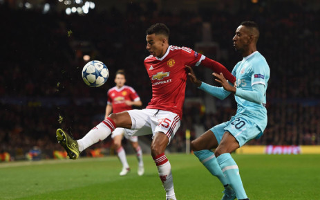 182d4feb928 Manchester United s Jesse Lingard in action against a PSV defender in the  Champions League clash at