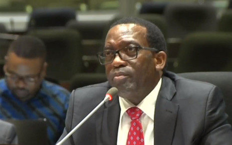 The head of Harith General Partners Tshepo Mahloele testifying at the PIC inquiry on 16 April 2019.