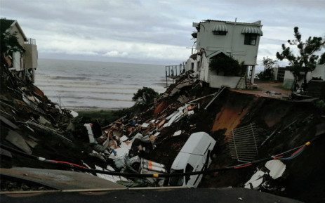 FILE: Damage to property in Rockview Road, Amanzimtoti, KwaZulu-Natal, during flooding in late April 2019. Picture: Supplied.